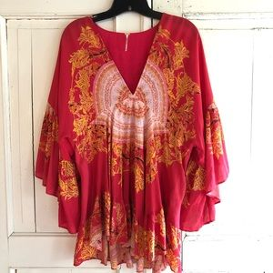 Free People Sunset Dreams Printed Tunic top dress